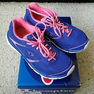 Champion Shoes - Champion blue and pink running shoes. Size 6.5